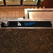 "Los Angeles Dodgers 3.25"" x 24"" Bar Drink Mat - Man Cave, Bar, Game Room"