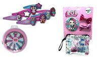 Girls Official LOL Surprise Hair Accessories Sequin Pouch Hair Clips Beauty Set