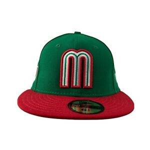 Youth Kids Mexico World Baseball New Era 59FIFTY fitted cap size-6 1/2, 6 3/8