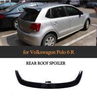 For VW Volkswagen Polo 6R 2010-18 Glossy Black FRP Rear Roof Spoiler Lip Wing