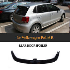 Glossy Black FRP Rear Roof Spoiler Boot Wing Lip For Volkswagen Polo 6R 2010-18