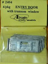 Alexander Scale Models #2404 Entry Door w/Transom (4 in pkg) Light Cast Metal