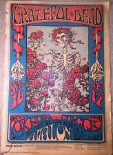 Grateful Dead - Skull And Roses Poster - 3rd Pressing - Avalon Ballroom 1966