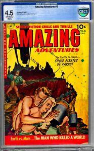 AMAZING ADVENTURES #6 CBCS 4.5-TORTURE/BONDAGE CVR-1952 ZIFF-DAVIS BOOK