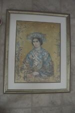 "Original lithograph, signed, numbered (447/1000) ""The Bride"" by Edna Hibel"