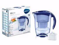 Brita Elemaris Cool 2.4L Fridge Water Filter Jug Blue +1 Maxtra Filter