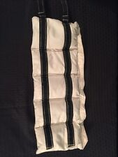 White Cloth Physical Therapy Weighted Sandbag 5.5lbs. w/Black Velcro Straps