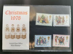 Gb presentation pack Christmas 1978 stamps mint unmounted
