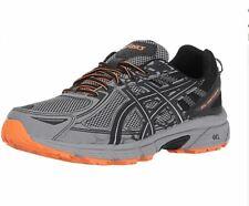 ASICS NEW Mens Size 8.5 4E Gel Venture 6 Frost Gray Orange Trail Running Shoe