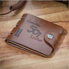 Mens Cowboy Luxury Quality Leather Wallet Credit Card Holder Purse Brown 501
