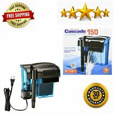 Cascade Hang-on Aquarium Filter Quad Filtration System Clean Up to 35Gallon Tank
