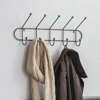 Steel Metal 5 PEG RAIL For Hallway Bedroom Wall Mounted Rail Hanger Coats Hook