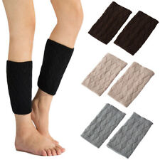 Ladies Women Knitted Boot Cuffs Toppers Short Socks Rhombus Crochet Leg Warmers