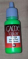 Vallejo Paint Game Color Fluo Green 72104 Eye Dropper Bottle 17ml