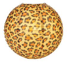 14'' Chinese Japanese Paper Lantern Safari Cheetah Print  Home Party Decor NEW