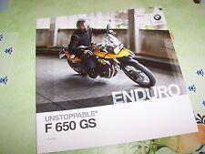 Prospectus / Brochure BMW F 650 GS 2011 //