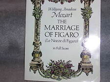 MOZART THE MARRIAGE OF FIGARO IN FULL SCORE  MINT 1979 DOVER PUB