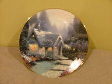 Bradex Thomas Kinkade Collector Plate Garden Cottages of England Cedar Nook Cott