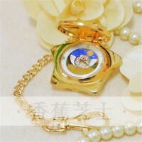Sailor Moon 20th Anniversary Crystal Star Pocket Watch Necklace Cosplay Pendant