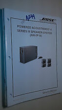 Bose acoustimass -5 series am-5sp III service manual original repair book