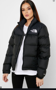THE NORTH FACE WOMENS VINTAGE 1996 RETRO NUPTSE 700 DOWN PUFFER JACKET  BLACK S