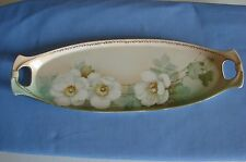 BEAUTIFUL ANTIQUE R.S. Tillowitz Silesia Hand-Painted  Celery /Relish Dish