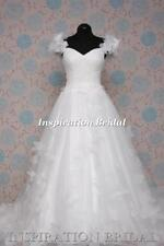 Scoop Neck Ball Gown/Duchess Cap Sleeve Wedding Dresses