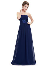 Womens Strapless Chiffon Bridesmaid Dresses Long Evening Dress 09955 Ever Pretty