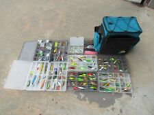 Tackle Bag With Lots of Lures And Tackle Hooks Weights lots of lures unused Loca