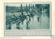 Mine Trench Bomb Prince of Wales/Montreal Battle of Ypres WWI 14 18 PLANCHE 1916