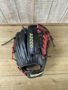 """Wilson A2000 Pro-Stock 1782 Baseball Glove 11.5"""" Black And Red"""