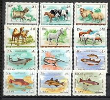 Stamps Lebanon 1967 Animals and fishes mint unhinged