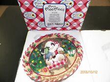 "Mary'S Moo Moos #371270 ""Santa With Child Plate"" 1998 Enesco"