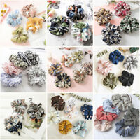 Women Elastic Hair Rope Ring Tie Scrunchie Ponytail Holder Flamingos Hair Band