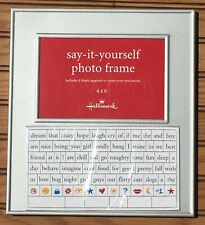 Say-It-Yourself Magnetic Frame for a 4 X 6 photo, Hallmark--decorate your photos