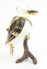 Kookaburra Jewelled Bird Trinket Box - Enamelled Approx 9cm High