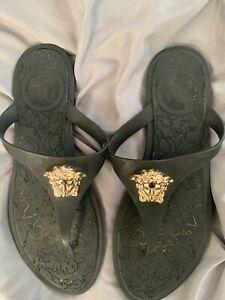 VERSACE Women/'s Shoes Sandals Black NIB Authentic 36 37 38 39 40 41