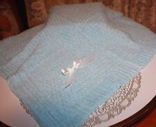 NICE Knit Baby Doll Blanket For Reborn LIGHT BLUE Matches Outfit