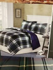 MADISON PARK PARKSTON DOWN NAVY REVERSBLE  ALTERNATIVE FULL QUEEN COMFORTER SET