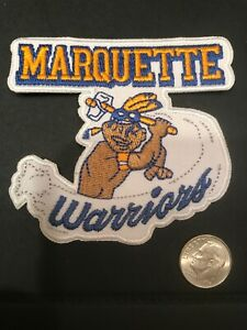 """Marquette """"Warriors"""" Golden Eagles Vintage Embroidered Iron On Patch 3"""" X 2.75"""""""