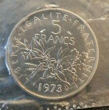 (#1931) FRANCE Pièce scellé de 5 Francs Semeuse 1973 du coffret FDC 79000 ex