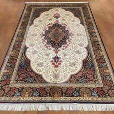 YILONG 5'x8' Hand Knotted Silk Persian Carpet Flooring Decor Indoor Rug Z140A