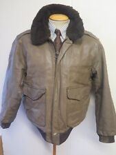 """Vintage Genuine Schott NYC Leather A2 Flight Bomber Jacket 42"""" Euro 52 + Thermal"""