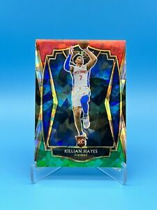 2020-21 Select Red White Green Cracked Ice Premier Level RC #181 Killian Hayes