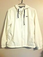 RBX Reebok Women's White Jacket Hooded Athletic Activewear Size M Vented