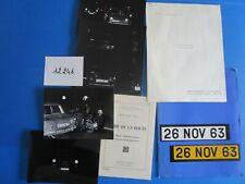 N°12246 / dossier de presse code de la route Simca 1000,PEUGEOT 404  /1963