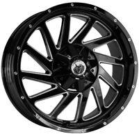 Alloy Wheels (4) 9.0x20 Wolfrace Wildtrek Black Pol 6x127 et20