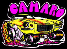 70s Chevrolet Camaro Iroc-Z Split Bumper 73 RS SS Z28 Copo Yenko T-shirt iron-on
