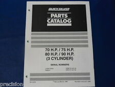 90-13725 70, 75, 80, 90Hp 3 Cylinder Parts Catalog, Quicksilver