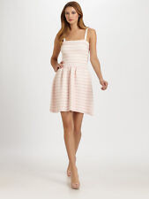 Christian Dior pink white stripe flounce dress, 8, seen on TV show Revenge $2700